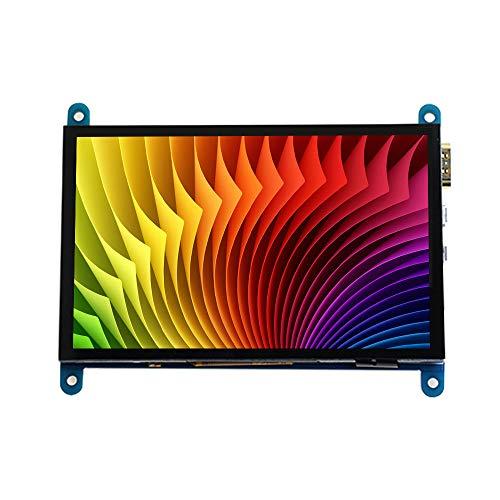 Aibecy Raspberry Pi - visualización táctil capacitiva HD de 5 pulgadas (resolución 800480, monitor portátil pequeño con interfaz USB HD)