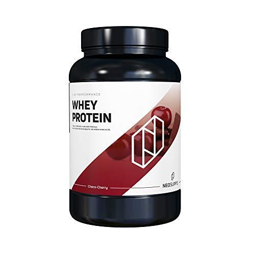 Premium Whey Protein für Muskelaufbau & Abnehmen in leckeren Geschmäckern | Eiweiß-Shake, Eiweiß-Pulver mit Aminosäuren (BCAA) | 1kg NeoSupps Protein Pulver - Weiße Schokolade Kirsche, Gewicht:1000g