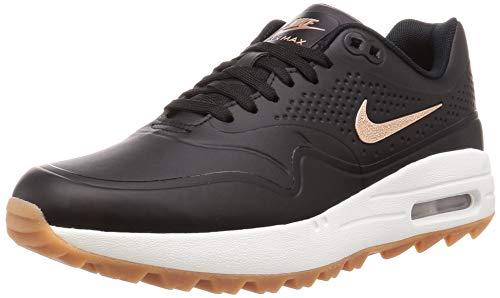 Nike Women's Air Max 1 G Golf Shoes(Black/Red Bronze/Brown,9,B (M) US)
