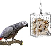 KinTor Parrot Creative Foraging Toy Feeder Bird Intelligence Growth Cage Acrylic Box Toys