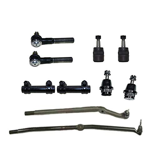 10pc Front Suspension Kit Inner & Outer Tie Rod Ends & Ball Joint & Tie Rod Adjusting Sleeves for Dodge Ram 2500 3500 03-07 4x4 8-Lugs
