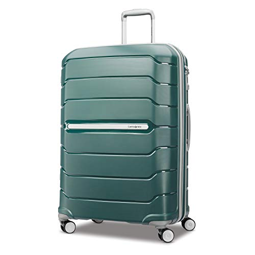 Samsonite Freeform Hardside Expandable with Double Spinner Wheels, Sage Green, Checked-Large 28-Inch