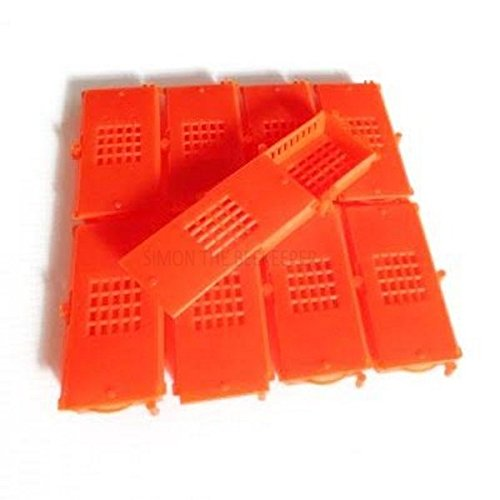 12 x Apiculture Rouge Butler Style Queen cages (Interlinking)