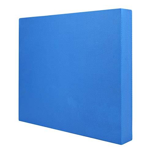 DAUERHAFT Colchoneta de Entrenamiento de Yoga Antideslizante Cojines equilibrados de Espuma de Alta Densidad Suave, para Gimnasio(Blue, Large)