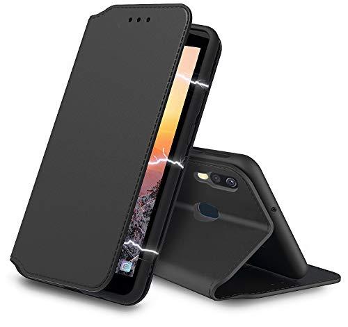 AURSTORE XIAOMI REDMI Note 5 Hülle Handyhülle XIAOMI REDMI Note 5 Tasche Leder Flip Hülle Brieftasche Etui Schutzhülle für XIAOMI REDMI Note 5 (Schwarz)
