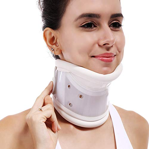 Collar Médico Cervical Para El Cuello - Férula Soporte Estabilizador de Cuello Y Cabeza - Para Aliviar El Dolor de Cuello Rígido Collar Cervical Tirantes de Cuello Para El Cuidado de Los Huesos,L