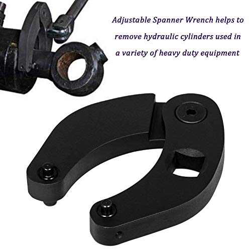 1266 Adjustable Gland Nut Wrench for Hydraulic Cylinders on Most Farm and Construction Equipment, Case 480E/580/580D/580 SE/580 ck/180 Backhoe, Case 1150h dozer, Bobcat cylinders, Hyd Cyl and etc.