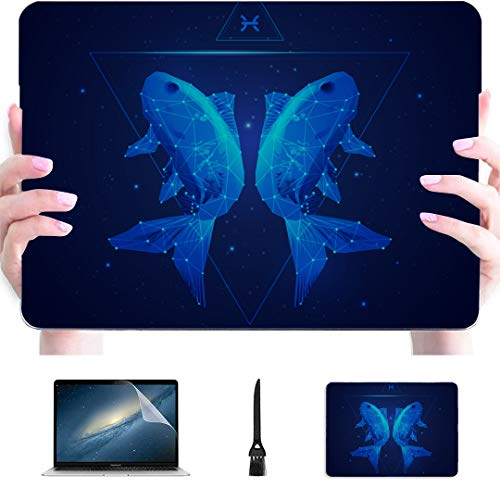 Macbook Pro Case 2018 Zodiac Zodiac Sign Pisces Plastic Hard Shell Compatible Mac Macbook 15 Cover Protection Accessories For Macbook With Mouse Pad