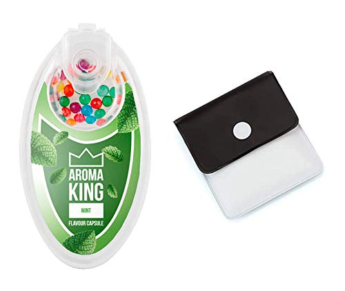 SweedZ Aroma Kapseln Mint/Perlen für Zigaretten + Taschenascher - 100 Kugeln