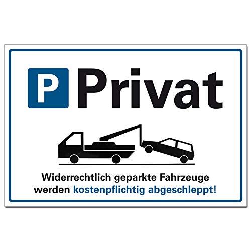 Parken verboten Schild Privat Parkplatz...