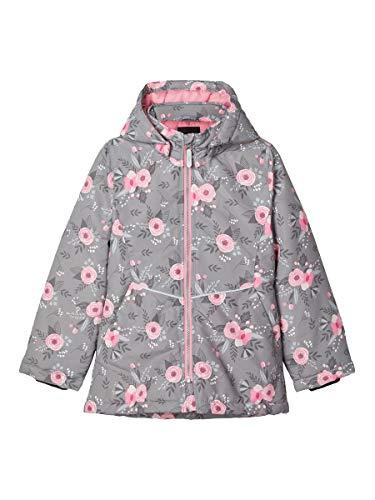 NAME IT Mädchen NKFMAXI Jacket Fall Flower Aufwärm-Jacke, Frost Gray, 146