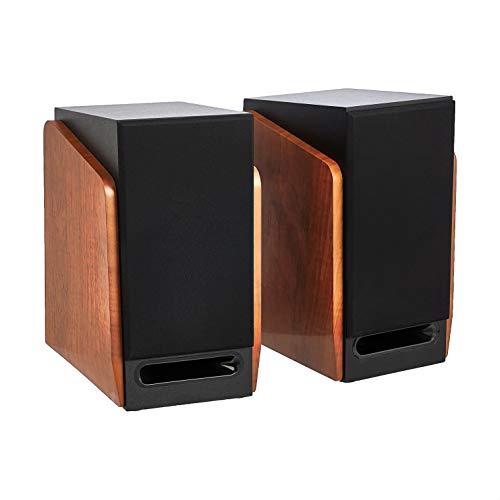 Amazon Basics Bookshelf Speakers with Active Speaker - 40W, 20-20KHz