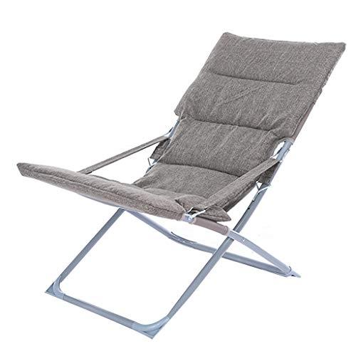 Sling Deck Recliner Tumbonas Tumbonas reclinables y reclinables Silla de jardín Tumbonas de Gravedad Cero Plegable con un paño de algodón Oxford Tela para Balcón de la Sala