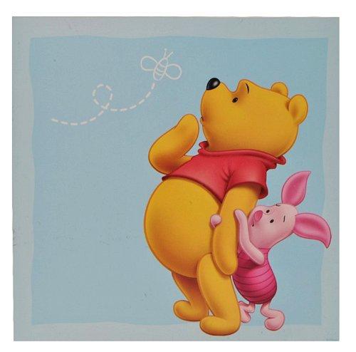 alles-meine.de GmbH Wandtattoo / Fensterbild / Sticker groß - Winnie The Puuh - Wandsticker selbstklebend Pooh 4 eckig
