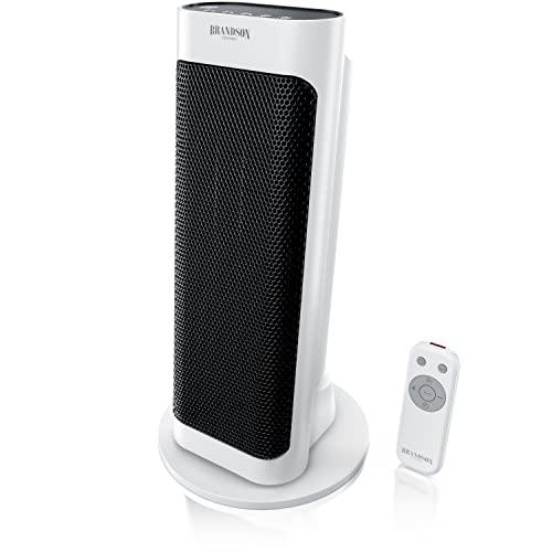 Brandson 98689464 - Calefactor con mando a distancia, color blanco