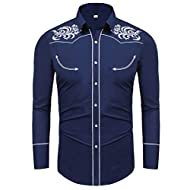 Daupanzees Mens Casual Basic Designed Long Sleeve Lapel Collar Front Button Cardigan with Pockets (Navy Blue4, Large)