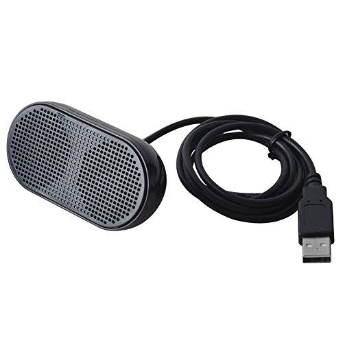 TOOGOO USB Lautsprecher Tragbare Lautsprecher Angetrieben Stereo Multimedia Lautsprecher Fuer Notebook Laptop PC (Schwarz)
