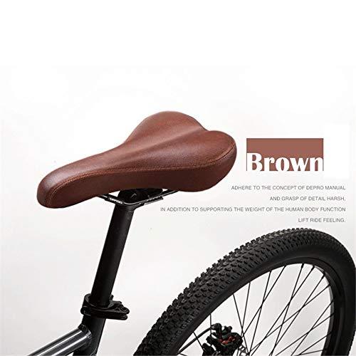 Sella Bici da Corsa in Pelle Vintage Custion Road Bike MTB Sport Sella Bicicletta Marrone Sella Bici da Sella,Marrone