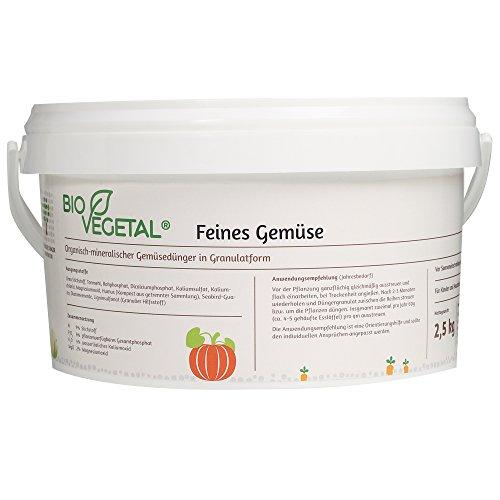 BioVegetal Feines Gemüse-Dünger mit Langzeitwirkung durch Fixierung der Nährstoffe durch Ton-Humus-Komplex, 2,5 kg Eimer