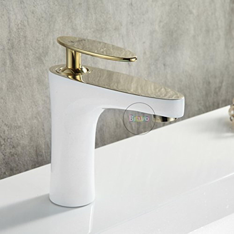 Deck Montieren Badezimmer-Becken-Mixer Mit Heiem Und Kaltem Wasser Einheitschmelder Mischer Wasserhahn 82211 Ae