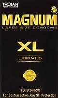 Trojan マグナムXLサイズ潤滑ラテックスコンドーム - 12カラット、6パック