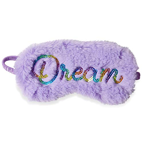 """Fuzzy Faux Fur"""" Dream"""" Sleep Mask - Plush Sleeping Eye Cover for Women Girls - Perfect for Home and Travel by Tri-Coastal Design"""