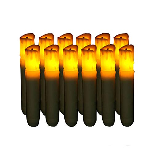 S-TROUBLE 12pcs Long Flameless LED Candle Simulation Flame Tea Light for Home Dinner Wedding Party Decoration Safety Lamp