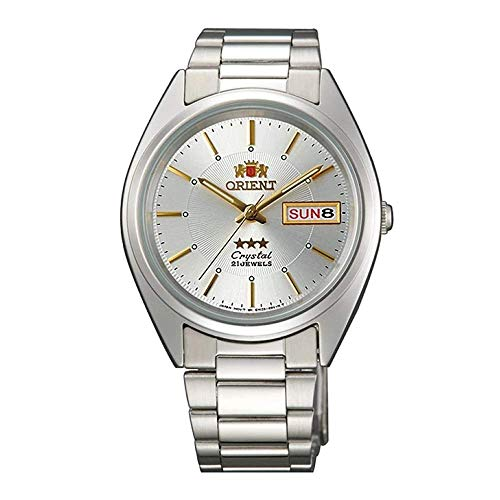 Orient Unisex Erwachsene Analog Automatik Uhr mit Edelstahl Armband FAB00006W9