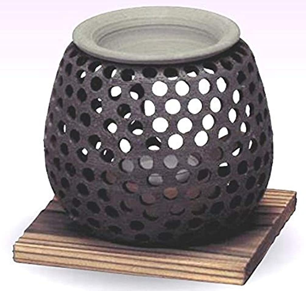 明らかにするくまご予約常滑焼 石龍作 茶香炉(アロマポット)径10×高さ10cm