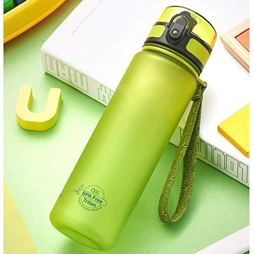 ZLYMY Protein Powder Shaker Bottles Shaker Cup Gym Gimnasio de Tres Capas Shaker Protein Milk Shaker Bottles GL53, Verde, 500ml