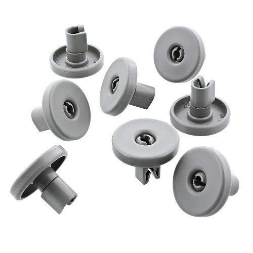 CABLEPELADO Kit de ruedas para cesto inferior de lavavajillas (8 uds) Gris