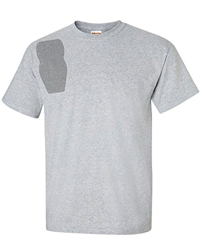 ShockEater Men's Recoil Shooting Shirt, Sport Grey, X-Large, Right Handed, (Shirt Only, No Recoil Pad)