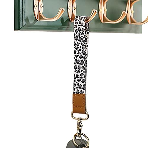 Wristlet Keychain for Women and Men,Key Chain Holder,Wrist Lanyard for Keys(Snow Leopard)