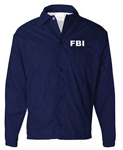 FBI - Bureau Novelty Duty Costume Jacket - Mens Coaches Jacket, S, Navy