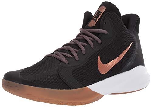 Nike Precision III Basketball Shoe, Black/Metallic Copper-Thunder Grey, 8 Regular US