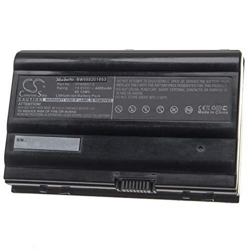 vhbw Akku kompatibel mit Terrans Force X799 Serie, X799-67SH1, X799-970M-XE3, X799-980M-G79 Notebook (4400mAh, 14,8V, Li-Ion, schwarz)