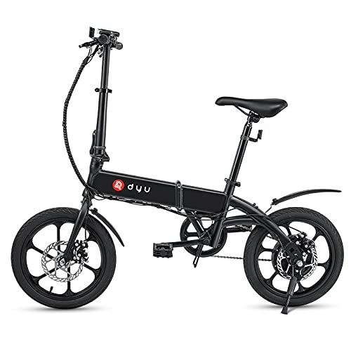 Festnight Bicicletta elettrica Pieghevole da 16 Pollici...