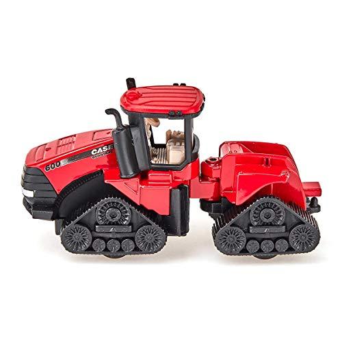 Siku 1324, Case IH Quadtrac 600, Landwirtschaftliches Gerät, Metall/Kunststoff, rot, Bewegliches Knickgelenk