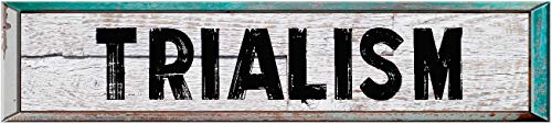 TRIALISM 8' Rectangle White Washed Weathered Painted Wood Rustic Look Decal Bumper Sticker for use on Any Smooth Surface