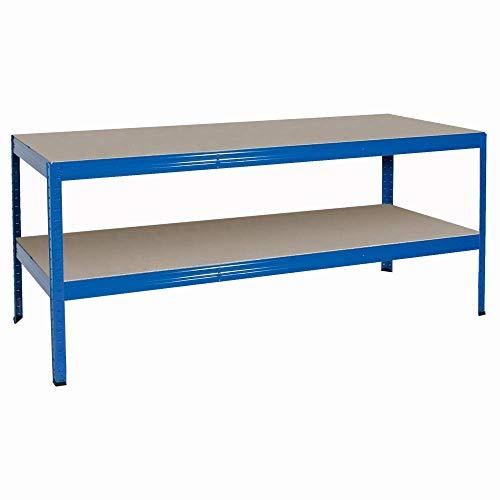 BRB Arbeitstisch/Packtisch, blau, HxBxT 900x1800x600 mm, Tragkraft pro Ebene 350 kg