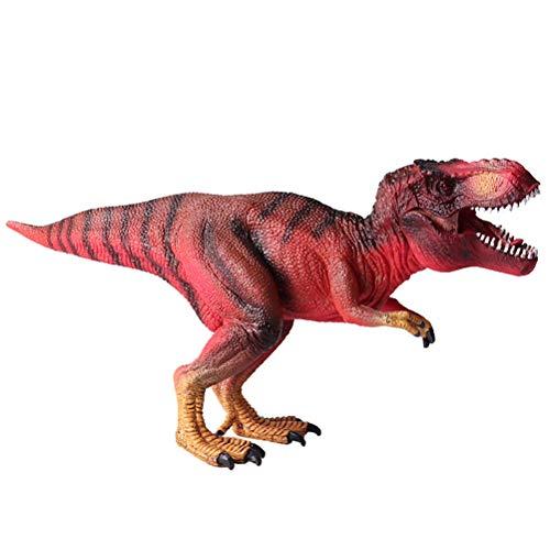 FLORMOON Juego de Dinosaurios - Realista Tirano-saurio Rex Dinosaur- Figuras clásicas de Dinosaurios de plástico - Decoración de Pasteles de cumpleaños, artículos de Fiesta para niños pequeños(Rojo)