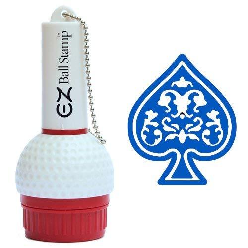 ProMarking EZBallStamp Golf Ball Stamp Marker (Blue Spade (New))