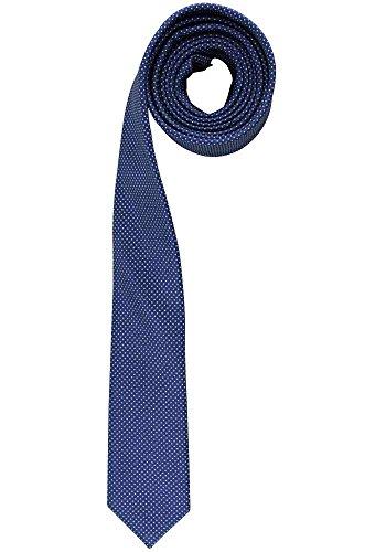 OLYMP Krawatte in edlem Dessin, 5 cm, Superslim, royal fein gepunktet