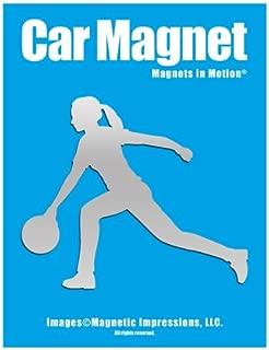Bowler Female Car Magnet