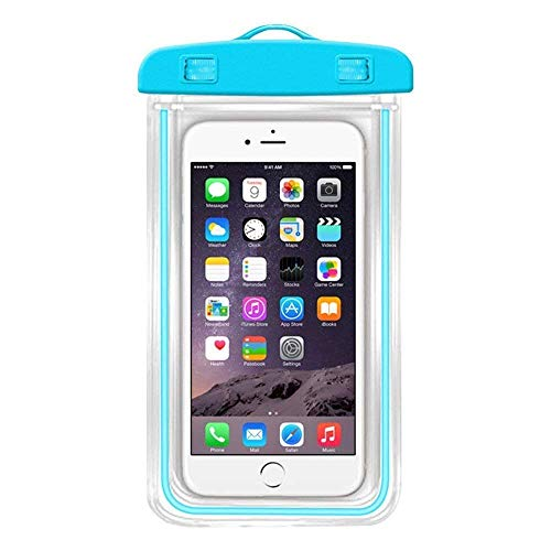 LEAWALL Universal Waterproof Case, Mobile Phone Pouch for Hospitals, Swimming, Hiking, Biking, Underwater Photography, Rain Fits Upto 6.5 Inch Mobiles(1PCS)