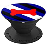 Human Pup Play Gay Leather BDSM Fetish Pride Flag Gear Gifts PopSockets Grip and Stand for Phones and Tablets