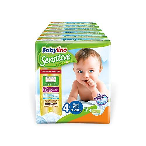 Babylino Sensitive Maxi Plus, 114 Pannolini Taglia 4+ (9-20Kg)
