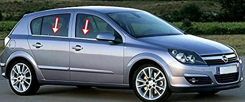 Biotto - Tiras de marco de ventana cromadas, compatibles con FIT 2004-2010 Vauxhall Opel ASTRA H HB