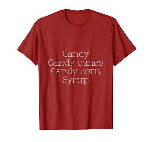 Caramelo, bastones de caramelo, maíz dulce, jarabe divertido Camiseta