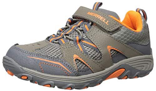 Product Image of the Merrell Trail Chaser Hiking Sneaker, Gunsmoke/Orange, 1 US Unisex Little Kid